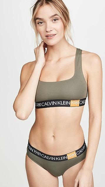Calvin Klein Underwear 1981 棉质无衬里休闲文胸