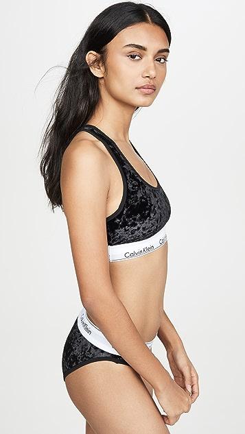 Calvin Klein Underwear 时尚棉质天鹅绒休闲文胸