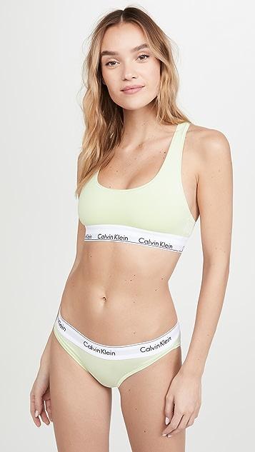 Calvin Klein Underwear 时尚棉质无衬里休闲文胸