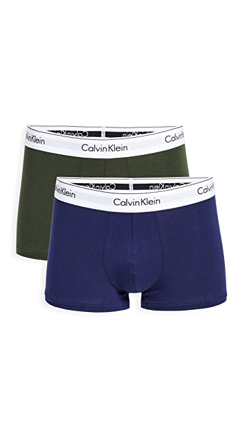 Calvin Klein Underwear Modern Cotton Stretch 2 Pack Trunks