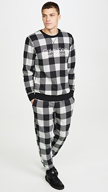 Calvin Klein Underwear Modern Cotton Buffalo Check Sweatshirt