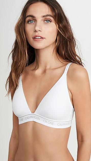 Calvin Klein Underwear One Cotton 轻柔衬里三角形休闲文胸