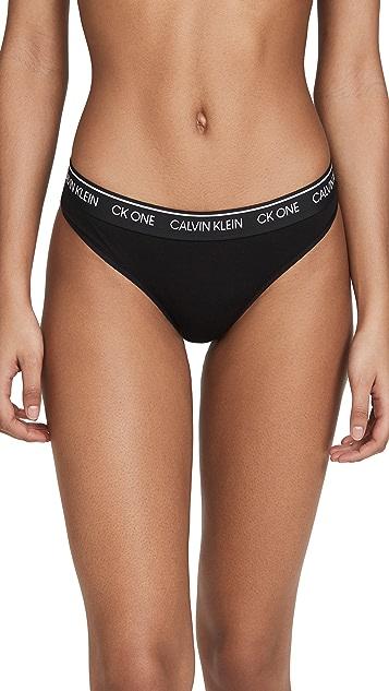 Calvin Klein Underwear One Cotton 丁字裤