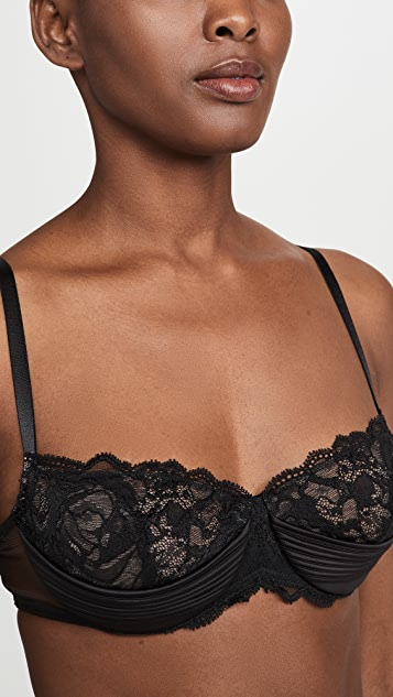 Calvin Klein Underwear Black Spring Rose Unlined Balconette Bra