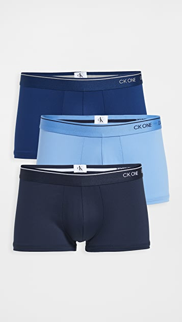 Calvin Klein Underwear One Micro 3 Pack Low Rise Trunks