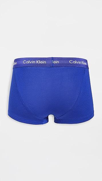 Calvin Klein Underwear Cotton Stretch 3 Pack Low Rise Trunks