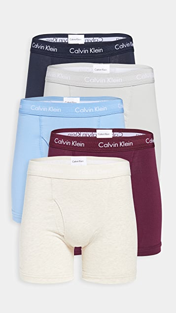 Calvin Klein Underwear Cotton Stretch 5 Pack Boxer Briefs