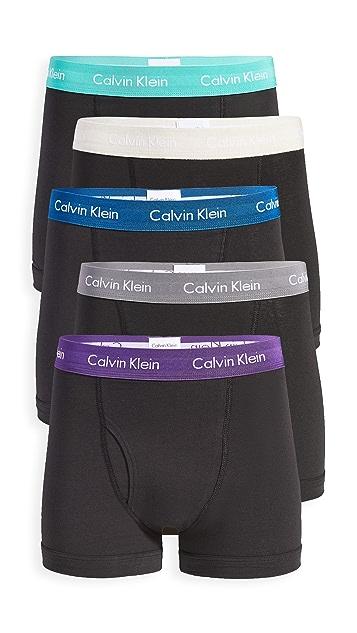 Calvin Klein Underwear Cotton Stretch 5 Pack Low Rise Trunks