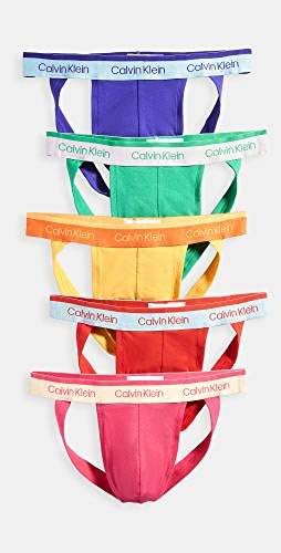 Calvin Klein Underwear - Pride Edit Cotton Stretch 5 Pack Jock Straps