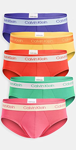 Calvin Klein Underwear - Pride Edit Cotton Stretch 5 Pack Hip Briefs
