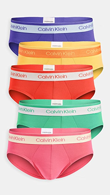 Calvin Klein Underwear Pride Edit Cotton Stretch 5 Pack Hip Briefs
