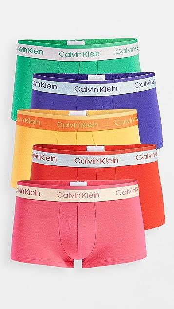 Calvin Klein Underwear Low Rise Pride Edit Cotton Stretch 5 Pack