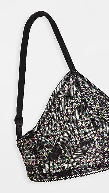 Calvin Klein Underwear Stripe Lace Unlined Triangle Bralette