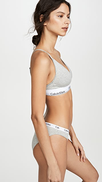 Calvin Klein Underwear Modern Cotton Lightly Lined Triangle Bralette