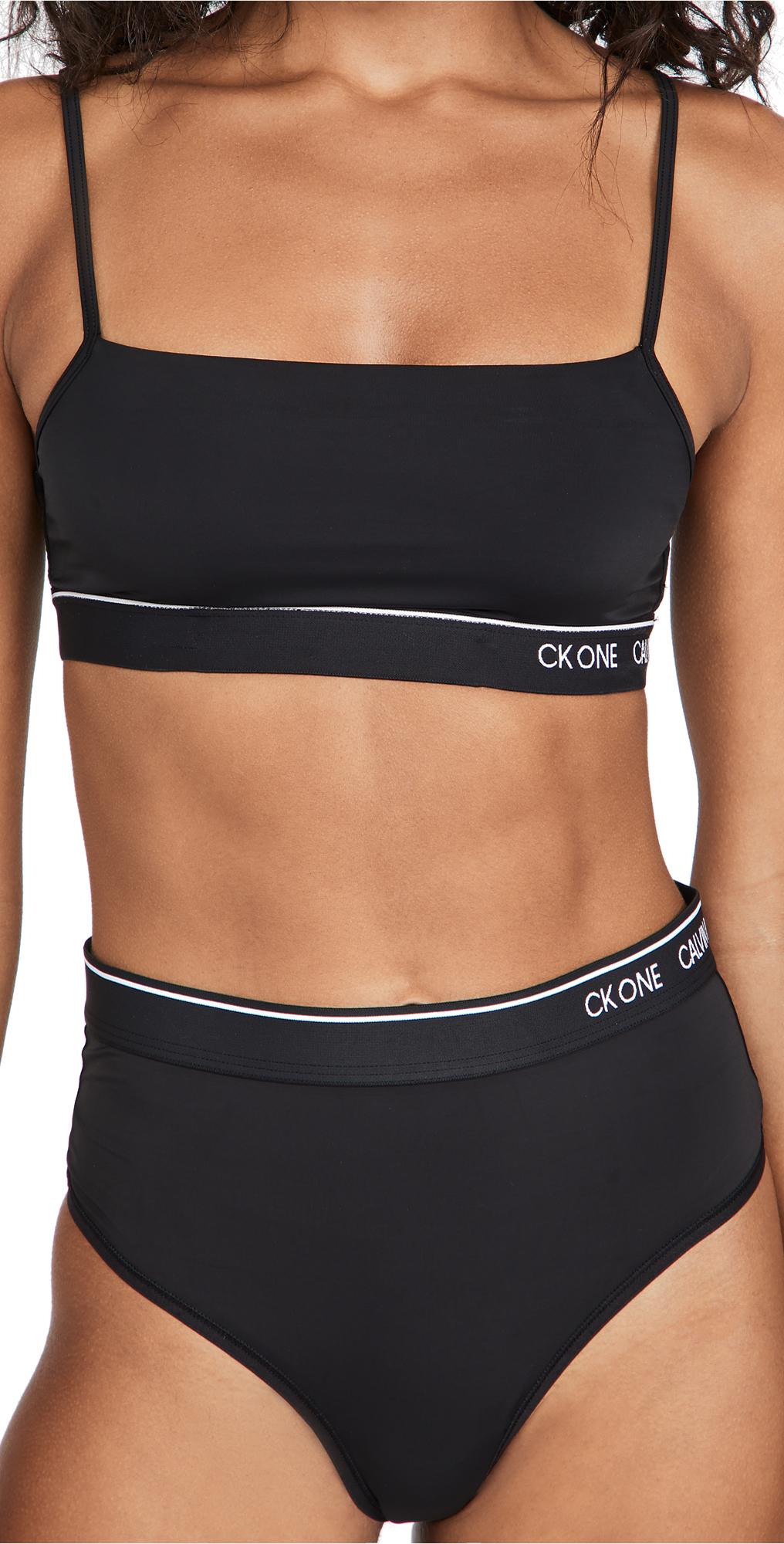 Calvin Klein Underwear Ck One Micro Unlined Bralette In Black003