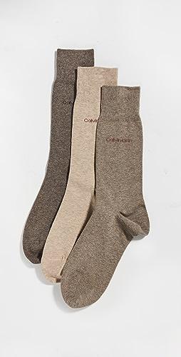 Calvin Klein Underwear - 3 Pack Flatknit Dress Socks