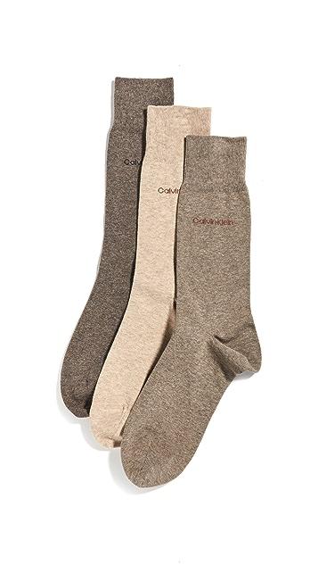 Calvin Klein Underwear 3 Pack Flatknit Dress Socks
