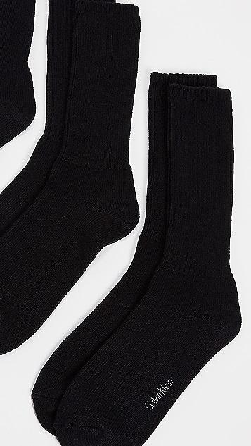 Calvin Klein Underwear 3 Pack Rib Casual Socks