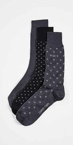 Calvin Klein Underwear - 3 Pack Multi Print Crew Socks