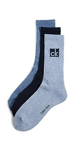 Calvin Klein Underwear - 3 Pack Logo Crew Sport Sock