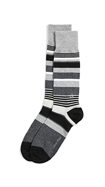 Calvin Klein Underwear Multi Stripe Dress Socks