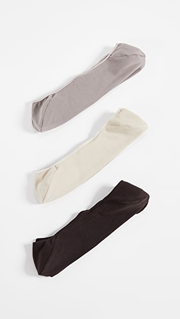 Calvin Klein Underwear 3 Pack No Show Dress Socks