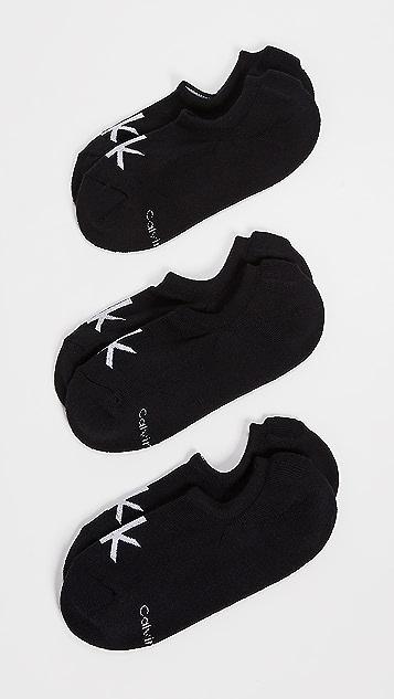Calvin Klein Underwear 3 Pack Cushion Logo Sport Socks