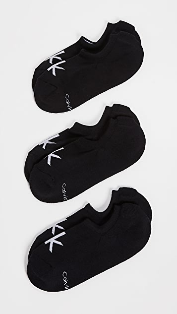 Calvin Klein Underwear 3 Pack Cushion Logo Sport Socks