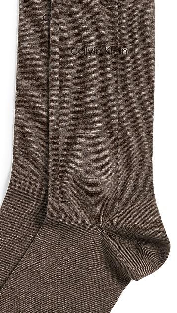 Calvin Klein Underwear Giza Cotton Solid Dress Socks