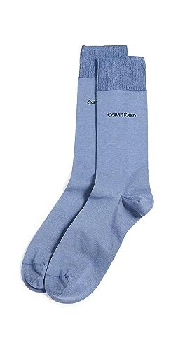 Calvin Klein Underwear - Giza Cotton Solid Dress Socks