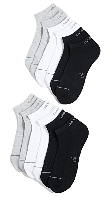 Calvin Klein Underwear 6 Pack Liner Sport Socks