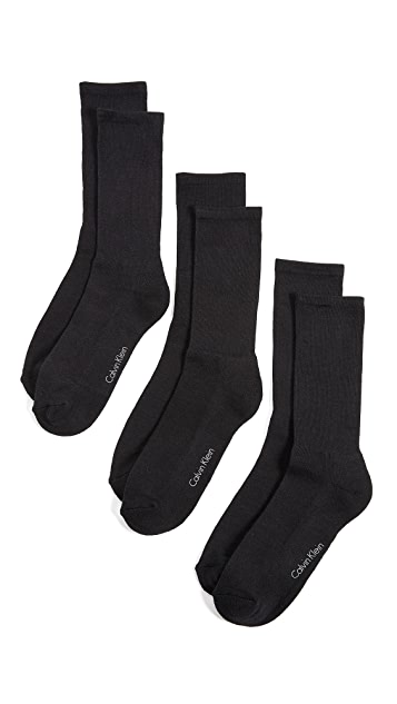 Calvin Klein Underwear 3 Pack Cushion Dress Socks