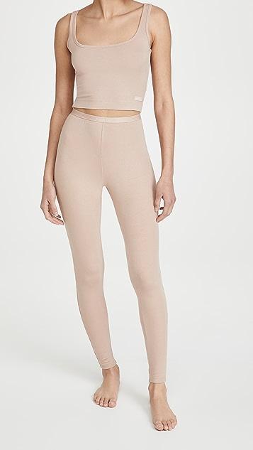 Calvin Klein Underwear Pure 罗纹贴腿裤