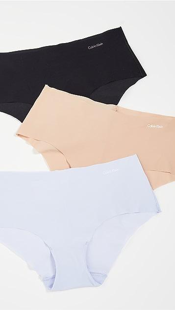 Calvin Klein Underwear 隐形 3 件式低腰内裤