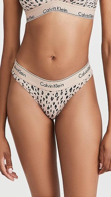 Calvin Klein Underwear 时尚棉丁字裤