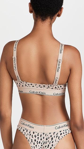Calvin Klein Underwear 时尚棉交叉背面休闲文胸