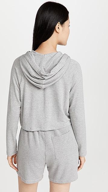 Calvin Klein Underwear 纯罗纹连帽上衣