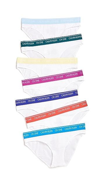 Calvin Klein Underwear CK One 7 Days Of The Week Bikini Pack