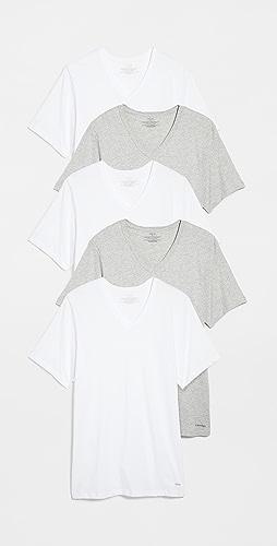 Calvin Klein Underwear - V Neck Tee 5 Pack