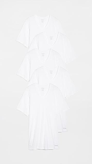 Calvin Klein Underwear Short Sleeve V Neck Tees