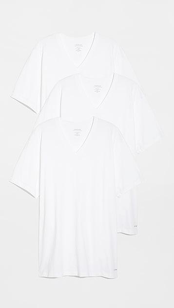 Calvin Klein Underwear 3 Pack V Neck Tees