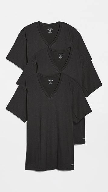 Calvin Klein Underwear 3 Pack V Neck Tee