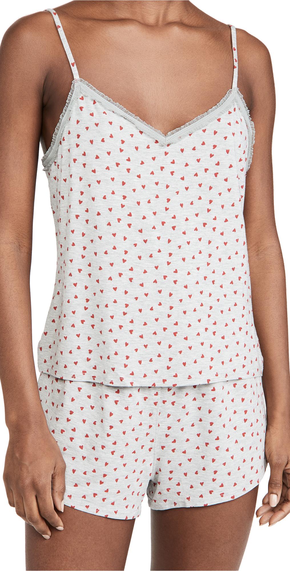 Calvin Klein Underwear Flocked Hearts Short PJ Set