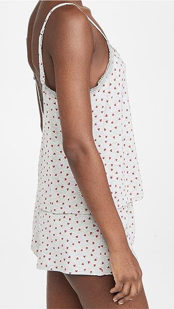 Calvin Klein Underwear 植绒心形短睡衣套装