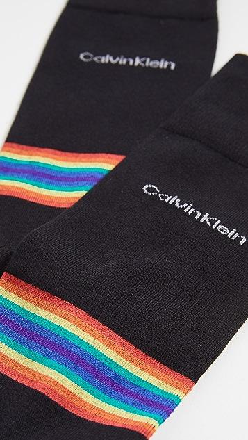 Calvin Klein Underwear Giza Rainbow Stripe Dress Socks