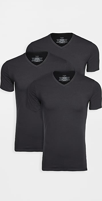 Calvin Klein Underwear 3 Pack Cotton Stretch V Neck Tee