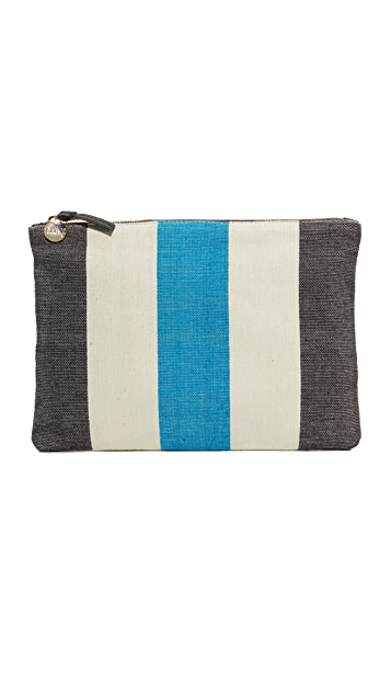 Clare V. Canvas Flat Clutch