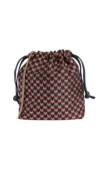 Clare V. Drawstring Pouch with Shoulder Strap