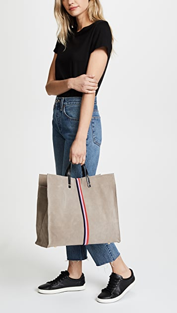 Clare V. Simple Tote with Stripes