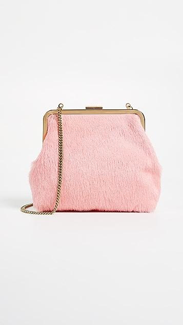 Clare V. Flore Hair On Bag - Blush
